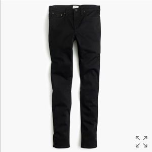 J. Crew Black Toothpick Skinny Jeans